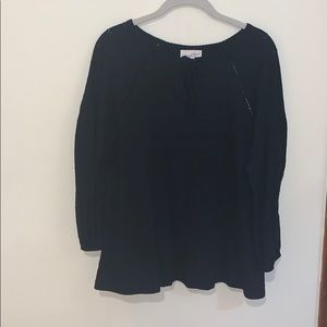 black over sized blouse